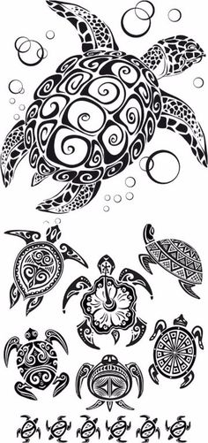 Tribal Turtle Tattoo designs are common among tribal men and women, and it has been also seen a craze among urban tattoo lovers. Tribal Turtle Tattoo represents traits and attributes of the animal. Ta Moko Tattoo, Hawaiianisches Tattoo, Fiji Tattoo, Mann Tattoo, Armband Tattoo, Tattoo Pics, Samoan Tattoo, Tattoo Flash, Stencils Tatuagem