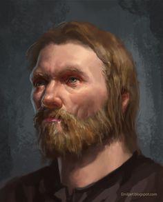 Portrait, Beard and Hair by Emiljart.deviantart.com on @DeviantArt
