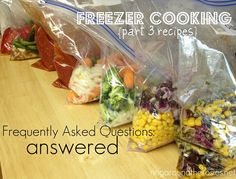 Crock pot freezer meals!