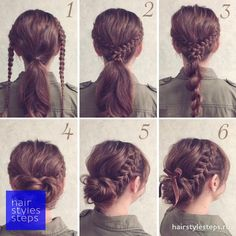 Braided updo for hair - hair styles - Geflochtene Hochsteckfrisur für Haare – Hair Styles Braided updo for hair Braided Hairstyles Updo, Pretty Hairstyles, Easy Braided Updo, Lazy Girl Hairstyles, Nurse Hairstyles, Braids Easy, Braided Hairstyles Tutorials, Easy Hairstyles For Short Hair, Cute Bun Hairstyles