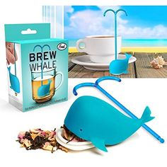Fred Brew Whale Tea Infuser Silicone Loose Leaf Strainer Herbal Spice Filter * You can find out more details at the link of the image.