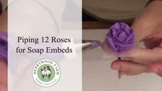 Piping Purple Roses | Soap Embeds | Merrywood Farm Soaps https://youtu.be/NipCx2yBsCA In this video my daughter and I piped a total of 12 roses.  You'll be able to watch us pipe in fast motion and some you'll see in slow motion.     This video is a bit long for piping flowers but I hope you find it useful.  Watch for the soap making video to be posted next week using these flowers!  _________________________  - M y E q u i p m e n t --  Soap Mold - http://amzn.to/2mWTL2y Frother…