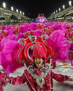 Carnival in Sambadrome - Rio de Janeiro Brazil