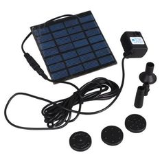 Dc Brushless Solar Panel Power Garden Fountain Pool Water Pump Kit by Donner. $17.83. Come with a solar battery, and charged by the sun. 3 different water outlet caps; Wide irrigated areas. Brushless DC water pump, pump water easily. Keep the soil wetted and give a cool environment. Save water as far as possible. Solar power fountain pool water pump is a very helpful tool for garden plants caring. Energy came from the sun, no need any other extra power supply. The ite...