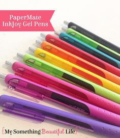 My Favorite Pens for Planning - My Something Beautiful Life - Marlene Something Beautiful, Life Is Beautiful, Beautiful Flowers, Planner Supplies, Planner Ideas, Art Supplies, Papermate Inkjoy Gel Pens, Cool Paper Crafts, Stabilo Boss