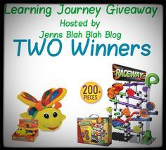 Don't miss your chance to #win one of the two prizes in the image! Some great gift ideas for your #kids or the kids in your life from Learning Journey #giveaway #sweepstakes #contests