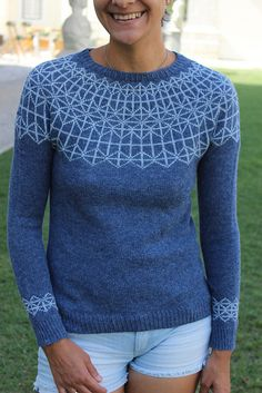 "stitcherywitchery: "" Imagine A free knitting pattern by Luisa M. Knitting Patterns Free, Knit Patterns, Free Knitting, Tejido Fair Isle, Fair Isle Pullover, Icelandic Sweaters, Knit In The Round, Fair Isle Knitting, Yarn Brands"
