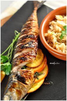 Grilled Mackerel with Orange and Parsley