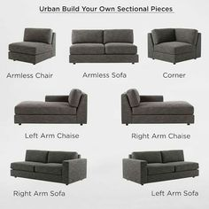 West Elm Urban Sectional Pieces