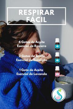 Crea una Mezcla de Aceites Esenciales con Romero, Eucalipto y Lavanda para respirar mejor y calmar los síntomas del resfriado o la congestión nasal. Compra estos y más aceites en Luk's le' Aromaterapia. Fitbit, Diffuser, Nasal Congestion, Essential Oil Blends, Aromatherapy, Lavender