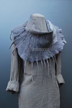 Extraordinary hand felted scarf wearable art by sassafrasdesignl, $150.00