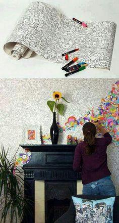 Muito legal essa parede, vc escolhe as suas cores preferidas.....