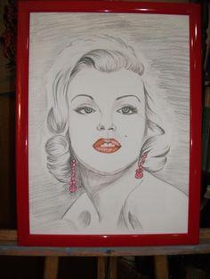 """ Marilyn Monroe ""  olio"