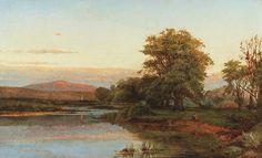 William Hart (1823–1894), Sunset Landscape, Troy, NY - 1869.