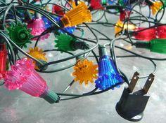 Vintage 1960s Flower Mini Christmas Lights 35 Bulb by gaelianna ...