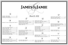 Wedding Seating Chart table seating by CharmingPaperShop on Etsy