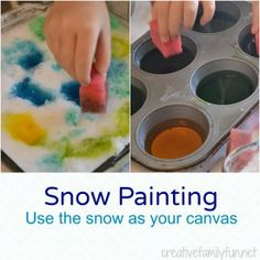 Snow Painting ~ Creative Family Fun