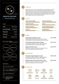 CV / Resume CV / Resume is a clean, elegant and professional resume template. - Career MindMap - CV/Resume CV/Resume is a clean elegant and professional resume template desig CV / Resume CV Cv Unique, Unique Resume, Simple Resume, Basic Resume, Free Resume, Creative Cv Template, Modern Resume Template, Resume Design Template, Free Cv Template