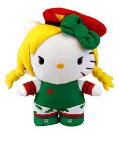 "Toynami Street Fighter X Sanrio Cammy Hello Kitty Plush, Large/10"""