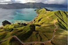 Aerial view of Marlborough Sounds, South Island of New Zealand The Places Youll Go, Places To See, Costa Rica, New Zealand Houses, Reserva Natural, New Zealand South Island, New Zealand Travel, Adventure Is Out There, Aerial View