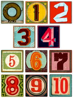 Fred & Friends XYZ Blocks' numbers by Christian Northeast Typography Love, Typography Letters, Collage Design, Collage Art, Typographie Inspiration, Collages, Alphabet Stickers, Sign Writing, Vintage Typography
