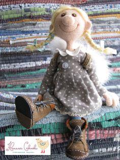 Купить Маруся - кукла ручной работы, из шерсти, валяная игрушка, валяние из шерсти, Валяние, ангел
