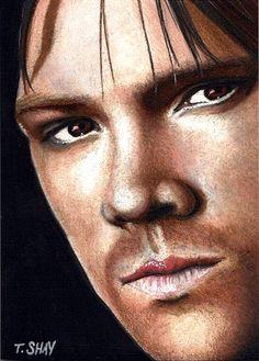 Sam Winchester sketch card by Dr-Horrible.deviantart.com on @deviantART