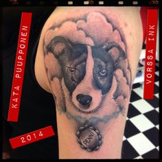 https://www.facebook.com/VorssaInk, http://tattoosbykata.blogspot.fi, #tattoo #tatuointi #katapuupponen #vorssaink #forssa #finland #traditionaltattoo #suomi #oldschool #dog