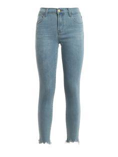 J BRAND ALANA DESTROYED HEM JEANS. #jbrand #cloth Hem Jeans, Cropped Skinny Jeans, Fashion Branding, J Brand, Stretch Denim, Pants, Clothes, Collection, Shopping