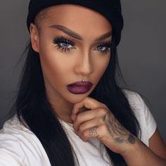 """@sonjdradeluxe wearing dark room lipstick! You are so hot!   #meltcosmetics #meltdarkroom"""