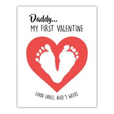 Fathers Day Crafts Discover Baby footprint art New Dad Gift Daddy My first Valentine Gift for daddy Gift from baby Fathers Day gift gift from children to dad Baby Fathers Day Gift, Valentine Gift For Dad, Personalized Fathers Day Gifts, Valentine Crafts For Kids, Fathers Day Crafts, Daddy Gifts, Baby Crafts, Valentines Diy, Infant Crafts