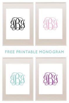 Free Printable Monogram MakerChicfetti Monograms | Download & Print Monograms for Free