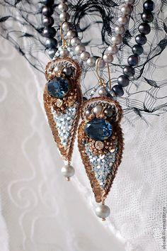 """Купить Браслет """"Via dell'Amore"""". - синий, браслет, золотой, золото, стразы, шелк натуральный"""
