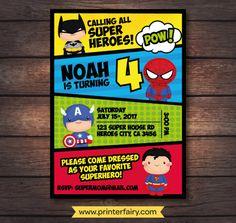 Mira este artículo en mi tienda de Etsy: https://www.etsy.com/es/listing/501879892/super-partido-del-heroe-super-heroe