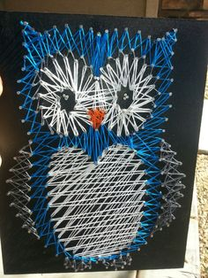 Nursery Owl String art Wall decoration for the by ThejewelryCage