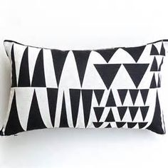 black white brown geometric print pillow - etsy - Bing images