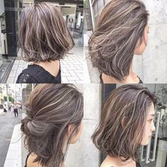 Maybe I can go for highlights like these next year. Let me hair have a chance to grow this year and chop it off before CNY for a new look 😘❤️ Short Hair Color Highlights, Balayage Highlights, Balayage Hair, Hair Color 2017, Bob Hair Color, Hair Colors, Medium Hair Styles, Curly Hair Styles, Bob Hairstyles