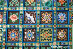 Bongeunsa (봉은사) is one of the oldest Buddhist temples in Korea. It's founded in 794 and gone through difficult times as Buddhism was repressed for a long period in Korean history (it's … Ceiling Painting, Buddhist Temple, Buddhism, South Korea, Letterpress, Seoul, Folk, Old Things, Korean