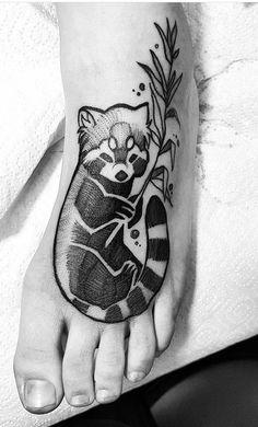 Fuki Fukari ink red panda tattoo