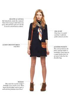 leather pocket, lauren moffatt dress