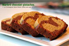 La-Compagnie-Sans-Gluten, un blog-sans-gluten-et-sans-lait !: Marbré au chocolat et pistaches - sans gluten, sans lait