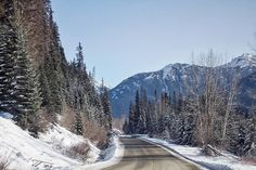 More snowy roads near Pemberton - Canada
