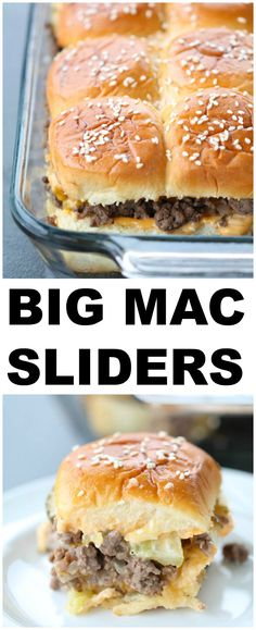 Big Mac Sliders Recipe Six Sisters' Stuff These Big Mac Sliders Are Made With Ground Beef, Special Sauce, Cheese, Pickles, And Onions On Buttery Sesame Seed Rolls. These Easy Sliders Are Our Favorite Homemade Big Mac Recipe Big Mac Sauce Recipe Copycat, Mac Recipe, Copycat Recipes, Homemade Big Mac Sauce, Big Mac Special Sauce Recipe, Recipe Lists, Recipe Box, Monte Cristo Sandwich, Easy Slider