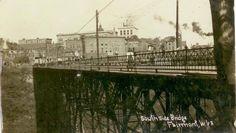 South Side Bridge, Fairmont, Marion Co, WV ca 1910--AOUWV