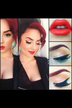 Pin up style....love love love everything about it!