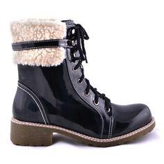 GHETE NEGRE DE LAC  89,0 LEI Lei, Boots, Winter, Fashion, Crotch Boots, Winter Time, Moda, Fashion Styles, Shoe Boot