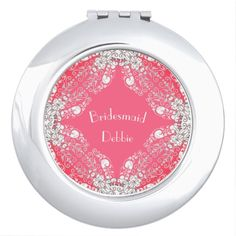 Bridesmaid-Monogram-Coral-Lace_Multi Shapes Makeup Mirror