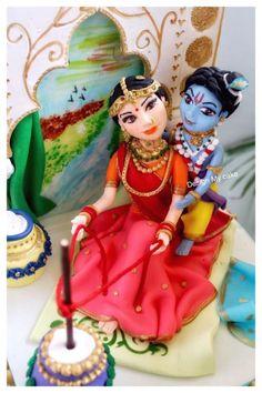 Krishna n Yashodha Maa - cake by Archu Krishna, Cupcake Cookies, Cupcakes, Indian Cake, Food Artists, Awesome Cakes, Figs, Incredible India, Cake Art