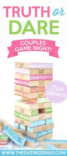 Truth or Dare couples date night idea with FREE PRINTABLES! The Dating Divas really hit it out of the park with this one!!