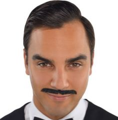 Slick your hair, wear our Roaring Black Pencil Moustache and all that jazz! This skin-safe adhesive moustache is just the thing to transform any modern-day Joe into a gentleman. Roaring Black Pencil Moustache fits most teens and adults. Halloween Costume Shop, Halloween Costumes For Kids, Halloween Inspo, Cool Mustaches, Moustache Party, Bow Tie Party, Mustache Styles, Kids Party Supplies